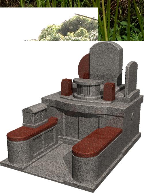 4.5m²~ 自由区画墓石イメージ