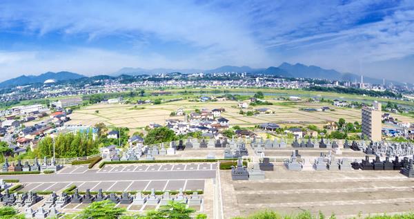 鶴崎みはらし台墓苑から見た風景