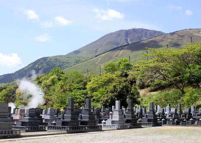 鶴見やすらぎ霊園から見える扇山