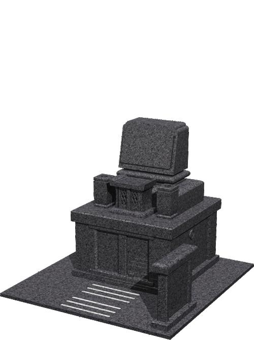 3.4m² やすらぎ1型墓石イメージ