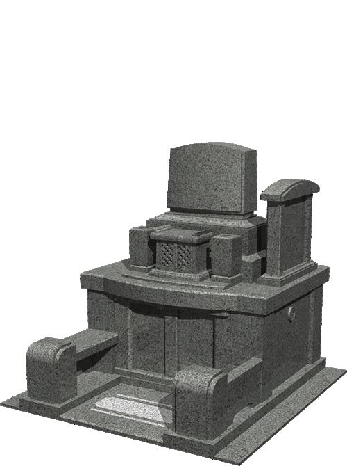 2.88m² 洋型墓石イメージ